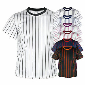 f8b815d56 New Mens Baseball Team T shirts Jersey Blank Striped Custom Tee ...
