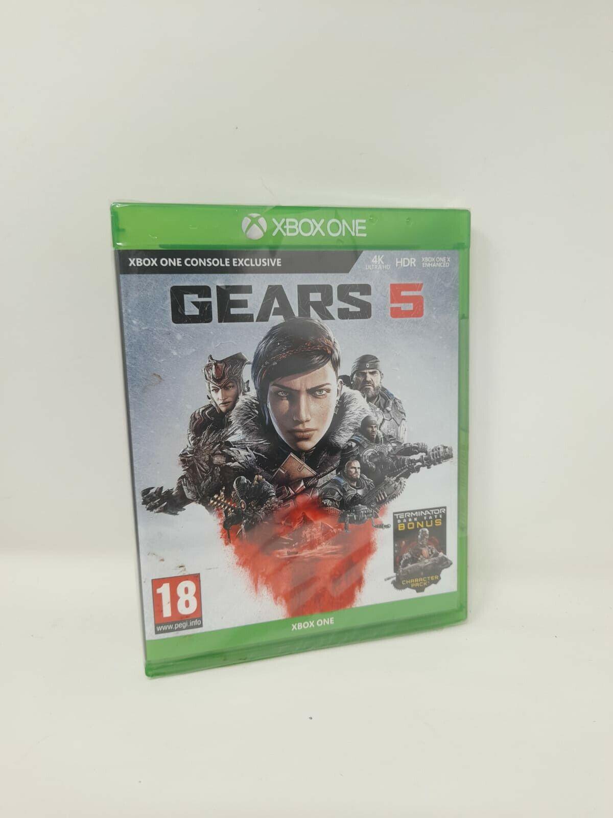 Gears 5 Xbox One **BRAND NEW & SEALED!!** Includes Terminator Dark Fate Bonus