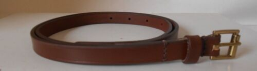 "1//2/"" Wide Small Ladies Leather skinny Fashion Belt Genuine Bridle Hide Tan"