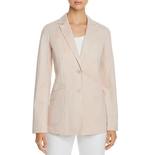 Lafayette 148 New York Womens Boston Striped Two-Button Blazer Jacket BHFO 7322