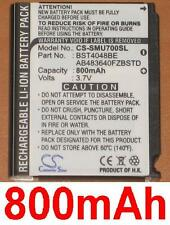 Batterie 800mAh type AB483640FZBSTD  Pour Samsung SGH-U700v