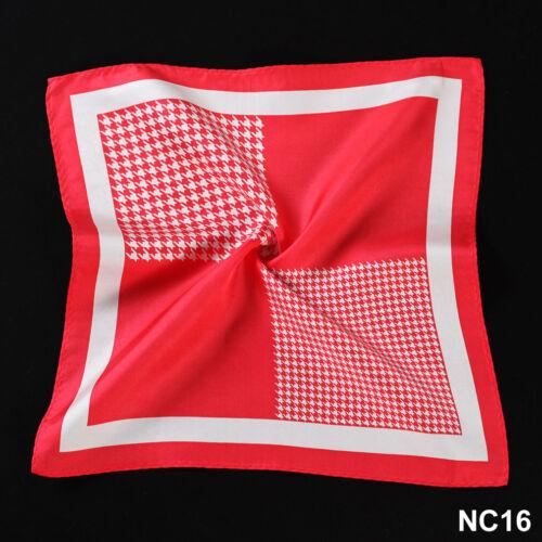 NC Handkerchief 100/% Natural Silk Satin Mens Hanky Wedding Party Pocket Square