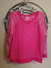 Made for Life Size 1X Pink Terry Sweatshirt Top Shirt