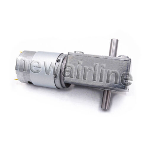 DC12V 24V JGY385 Dual Shaft Turbo Worm Reduction Gear Motor with Metal GearBox