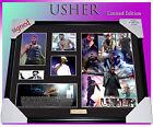 ON SALE, SPECIAL!!!! USHER MUSIC MEMORABILIA SIGNED FRAMED LIMITED 499 COA