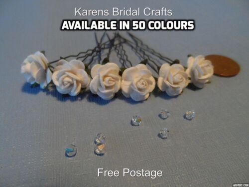 NOZZE FIORI 6 Rose Capelli Pin Grip Accessori qualsiasi colore DANCE RAZZE