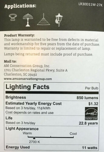 Simply Conserve 65-Watt Dimmable BR30 LED Floodlight 850 Lumens