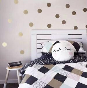 Details Zu Wandtattoo Goldene Punkte Wandaufkleber Dekoration Kinderzimmer Spielzimmer Diy
