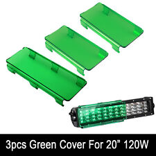 "20"" Inch Snap on Green LED Light Bar Lens Covers for Jeep Truck Offroad 4WD 120W"