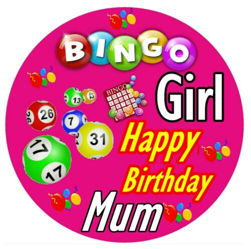ANY NAME GIFTS BRAND NEW BINGO PERSONALISED FUN BIRTHDAY BADGE PARTY
