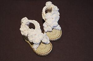 Newborn Crochet Baby Girl Heart Sandals Babys Booties Baby Shoes