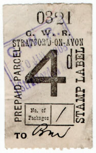 I-B-Great-Western-Railway-Prepaid-Parcel-4d-Stratford-on-Avon