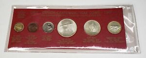 1967 Canada Retro Vintage Holder 6 Coin Set Includes Silver Red