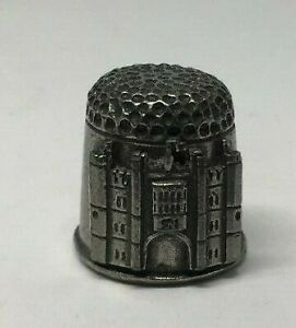 Collectable-PEWTER-Thimble-HAMPTON-COURT-PALACE-AA121