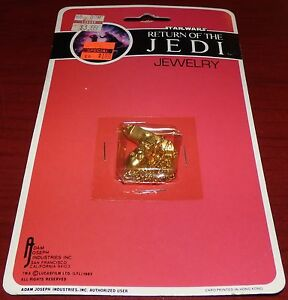 STAR WARS RETURN OF THE JEDI JEWELRY C-3PO NECKLACE NEW UNOPENED 1983