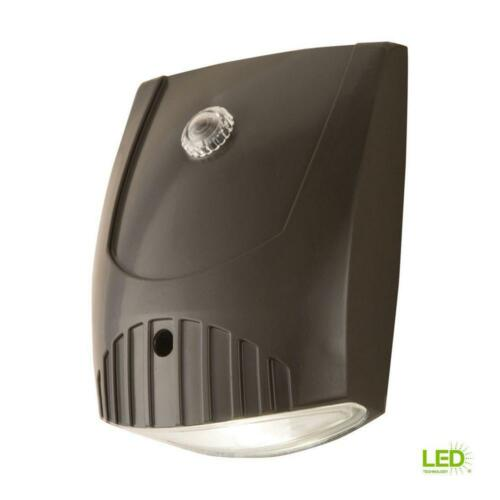 All-Pro Bronze Integrated LED Outdoor Wall Pack Light with Dusk to Dawn Photocel