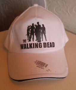The-Walking-Dead-White-Adjustable-Baseball-Cap-Hat-NEW
