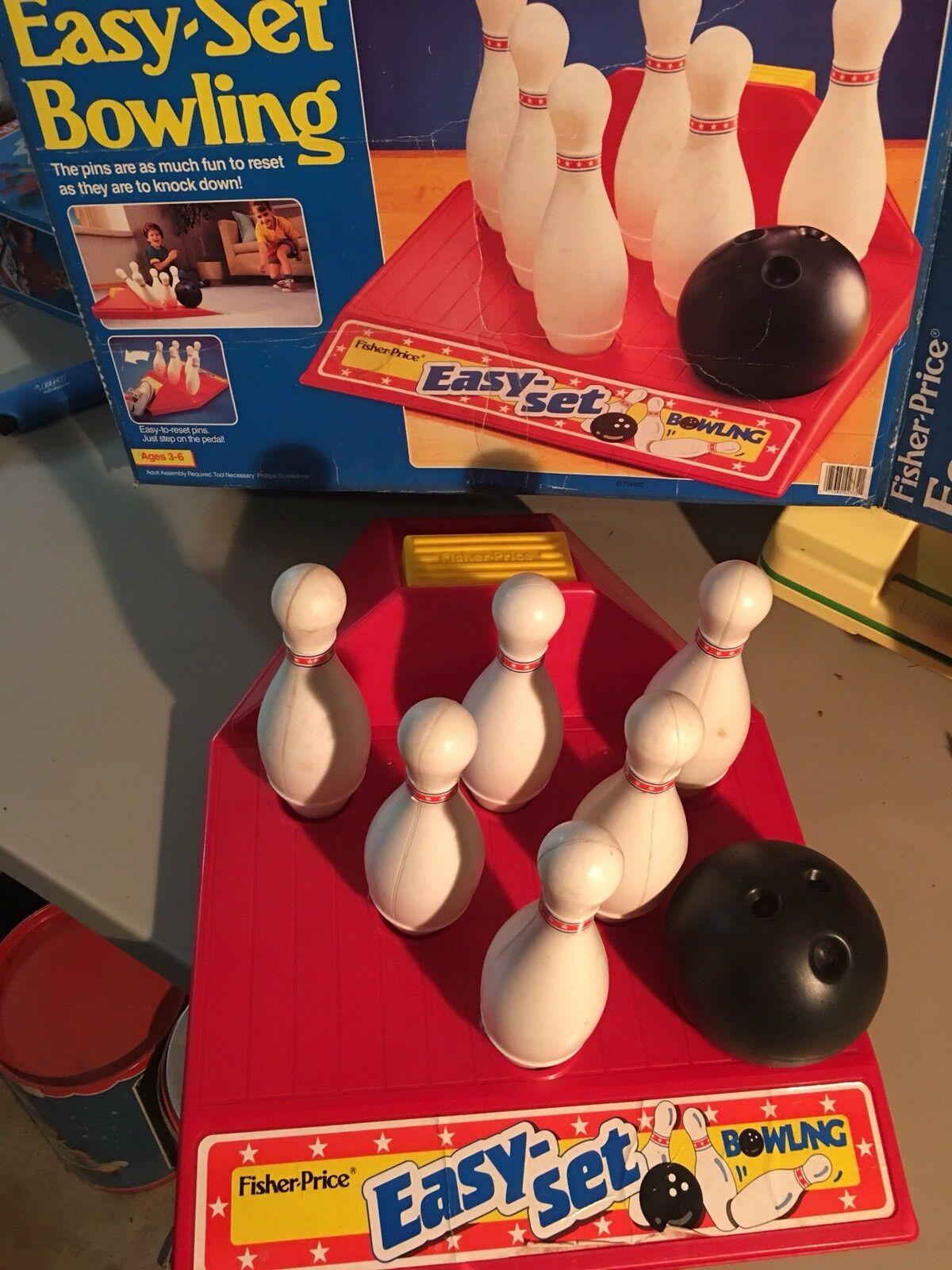 1990 Fisher Price Easy-Set Bowling Original BOX HTF/RARE