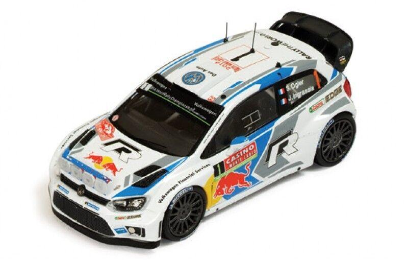 1 43 VW Polo R WRC  Red Bull  Winner Rally Monte Carlo 2014 S.Ogier