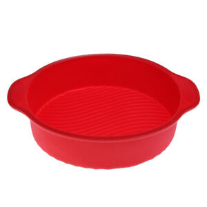 Silicone Cake Mold 6//8 Inch Heart Mould Tool Tray Mousse Baking Pan Round Bread