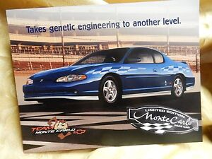 Image Is Loading Chevrolet 2003 Monte Carlo Pace Car Poster Card