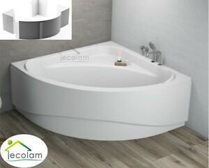 badewanne eckwanne eckbadewanne 140 x 140 cm sch rze wannentr ger styropor acryl ebay. Black Bedroom Furniture Sets. Home Design Ideas