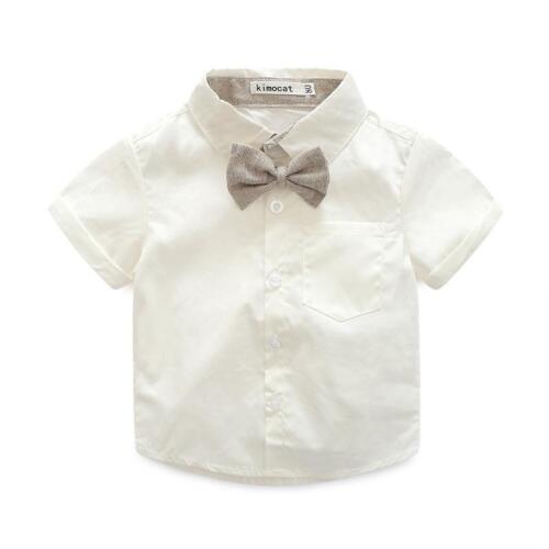 3pcs Gentleman Newborn Infant Baby Boy T-shirt tops Bib Pants Costume Vêtements Set