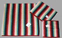 3 Storehouse Multi Color Shell Diamond Bath/hand/wash Cloth Towels Set Disc