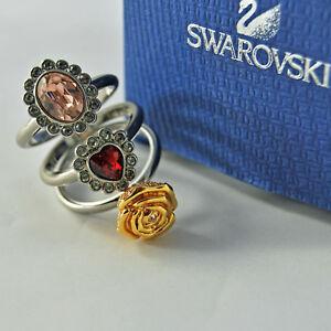 swarovski-originale-anello-set-mimosa-cuore-rosa-1065355-bague-authentique-heart