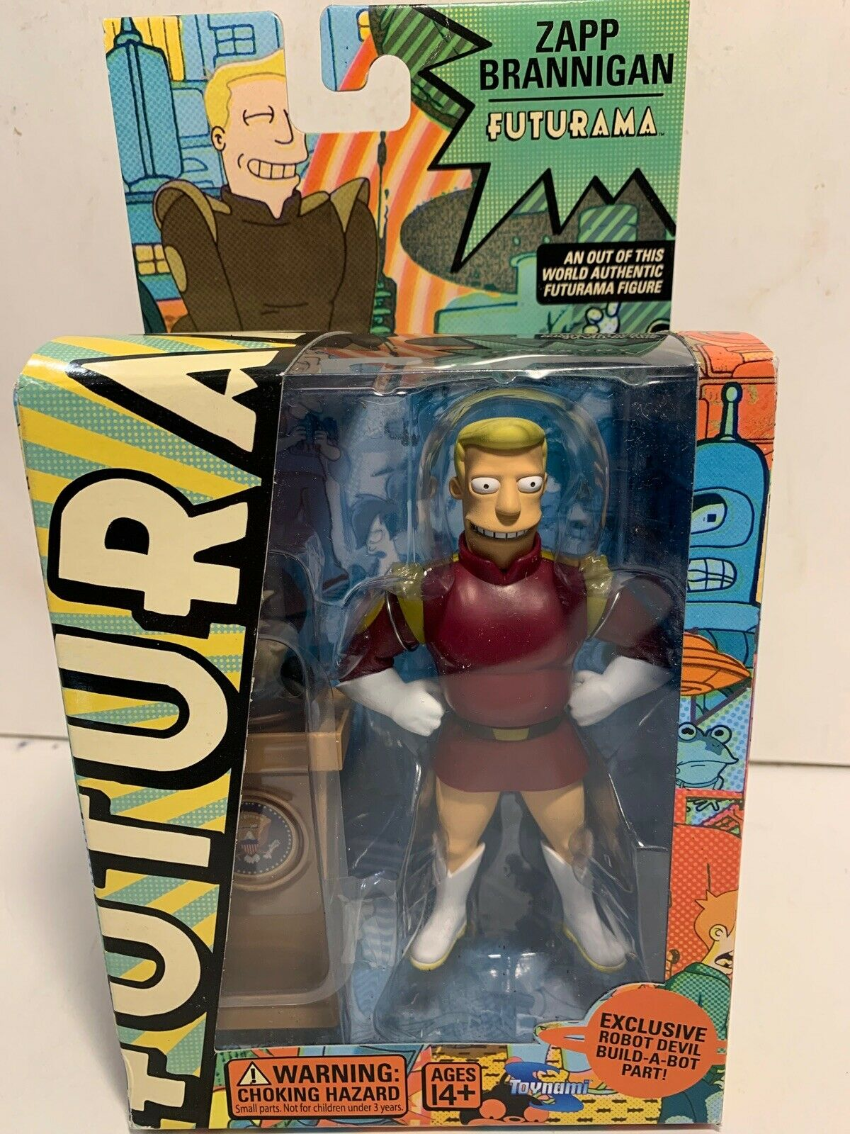 Futurama Zapp Brannigan Toynami Series 2 Action Figure Robot Devil SEALED