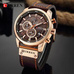 Curren-8291-Mens-Leather-Band-Strap-Wristwatch-Sports-Military-Quartz-Watch-US