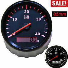 85mm Car Boat Tachometer Diesel Engine Tacho Gauge With Lcd Hourmeter 4000 Rpm