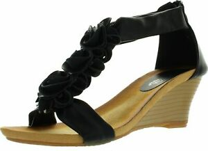 PATRIZIA by Spring Step Womens Harlequin Fashion Wedge Sandals