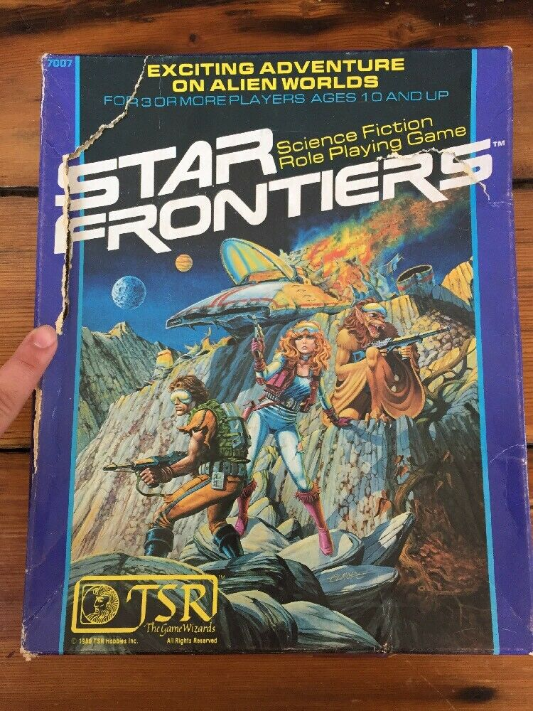Vintage 1980 TSR Star Frontiers Science Fiction Role Playing Space Fantasy Game