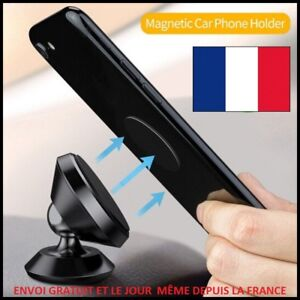 SUPPORT-MAGNETIQUE-ROTULE-360-PORTE-TELEPHONE-VOITURE-SMARTPHONE-GPS-PHONE-MP3