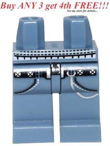 LEGO MINIFIGURE LEGS PLAIN BLUE LEGS TOWN BOY GIRL MINIFIG PANTS