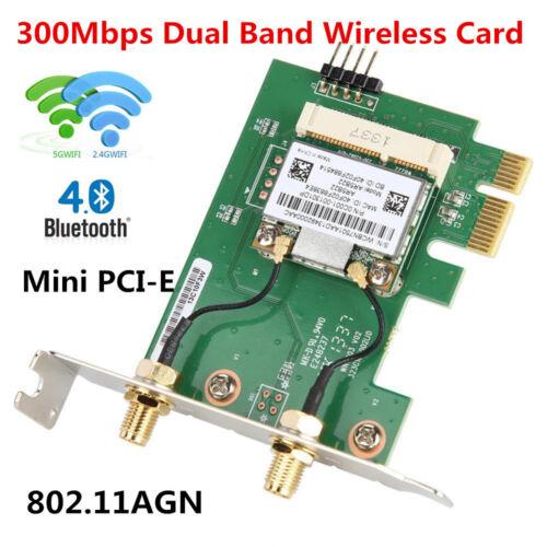 AR5B22 300M 2.4//5G Wireless Network Card WiFi+Bluetooth PCI-E X1 For Desktop PC
