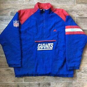 56486c51a Apex One 80s 90s Vintage New York Giants NFL Blue Padded Jacket XL X ...