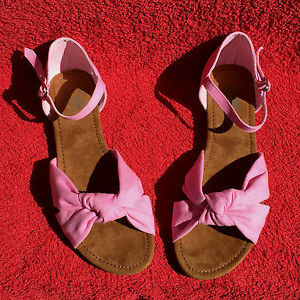 Rosa-Damen-Riemchen-Sandalette-von-AriZona-Sandalen-Schuhe-UK-5-5-in-Pink-Gr-39