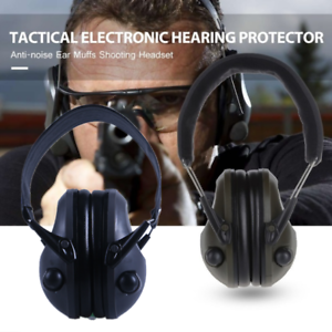 Electronic-Headphones-Ear-Muffs-Hearing-Protection-Noise-Shooter-Shooting-Safety