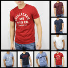 New Abercrombie Fitch A&F by Hollister Men Applique Graphic Logo T Shirt Size
