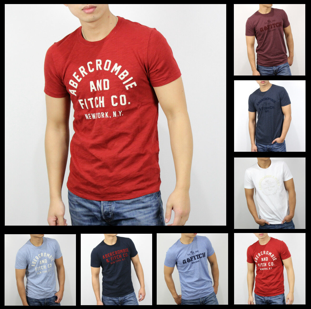 Details About New Abercrombie Fitch A F By Hollister Men Applique Graphic Logo T Shirt Size