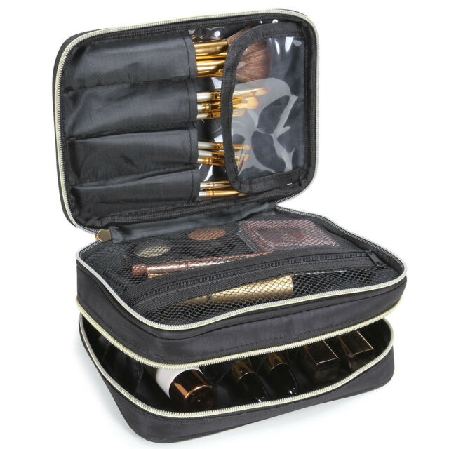 1f604e463255 Lifewit Travel Makeup Bag Cosmetic Organizer Portable Brush Holder Storage  Case