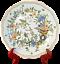 miniature 1 - Assiette-Faience-ROUEN-XIX-Decor-CORNE-D-039-ABONDANCE-Signe-AL-fait-main-24-8-cm