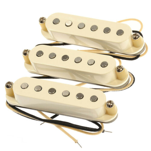 New Lindy Fralin Real 54/'s Strat Guitar Pickup Set of 3 Parchment Baseplate USA