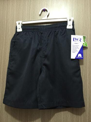 BNWT Boys Sz 4 LW Reid Brand Navy Blue Gaberdine Elastic Waist School Shorts