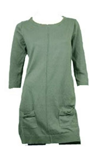 Womens Ladies Cotton Knitted 3//4 Sleeves Bow Pocket Winter Jumper Top Dress10-32