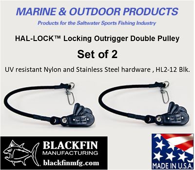 Ships same Bus HAL-LOCK ™ HL2-12 LOCKING OUTRIGGER DOUBLE PULLEY Day SET OF 2