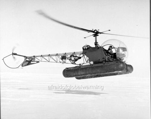 HU-1 Det 27 Helicopter over Arctic Photo 1955