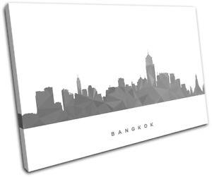 Bangkok-Skyline-Geometric-Modern-City-SINGLE-CANVAS-WALL-ART-Picture-Print